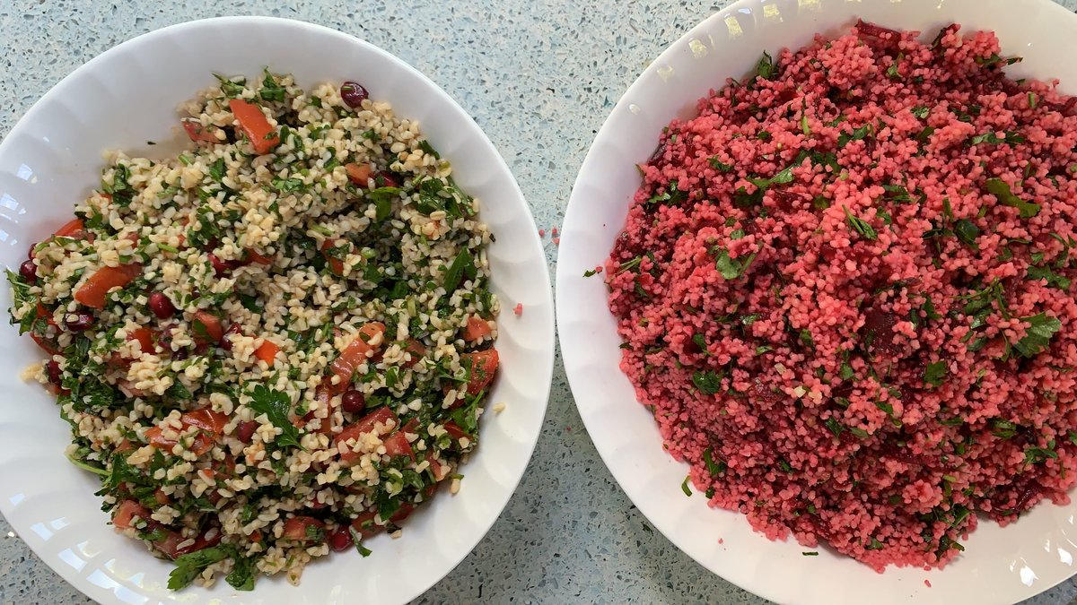 image showing Beautiful salads served with falafel and salt beef platters at Borough Market