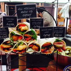 Image of Freshly cooked wraps available at Broadway Market on Saturdays