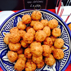 Image of Sweet fish balls available at Broadway Market on Saturdays