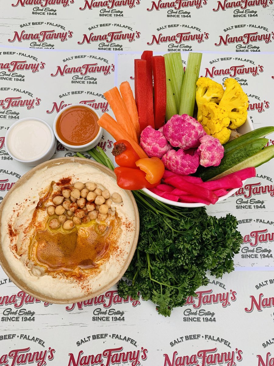 image showing Hummus bowl served with vegan and vegetarian friendly falafel. Walking around Borough Market and fancy a snack then this is perfect