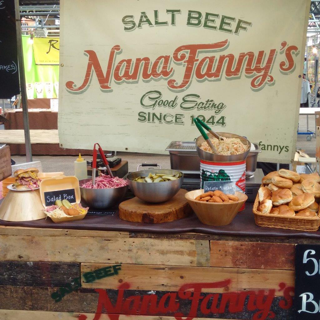 Event Catering: Whatever the reason for planning a party, you can really make it stand out in guests' memories with vibrant, different street catering by Nana Fanny, direct from the street markets of South London, we offer salt beef and falafel delicacies that will set your event apart from all the others.