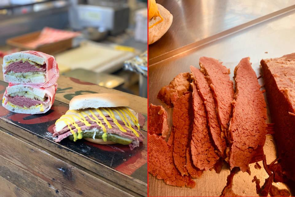 image showing Next day delivery of salt beef, pastrami, latkes, schnizels, pickles, sauerkraut and sauces